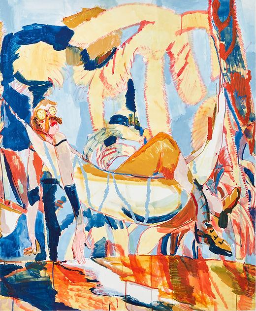 The sun comes down plop, it is quite appalling, Michael Taylor 2016, Gouache on paper, 150 x 125 cm