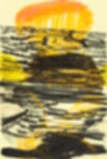 Ninja, Michael Taylor 2016, Charcoal and flashe on paper, 100 x 70 cm