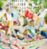 Ball boys, Michael Taylor 2015, Acrylic, gouache and pencil on paper, 156,5 x 150 cm