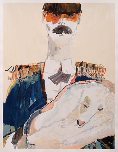 Medicine Man, Michael Taylor, 2018, Mixed media on paper, 90 x 70 cm