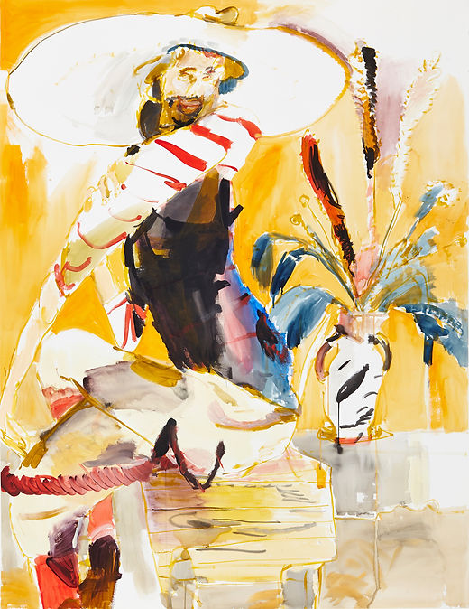 Mister magic touch, Michael Taylor 2015, Acrylic and flashe on paper, 140 x 110 cm