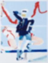 Sea legs, Michael Taylor 2014, Acrylic, gouache and pencil on paper, 98 x 75 cm