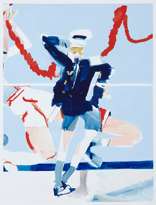 Sea legs, Michael Taylor 2014, Acrylic, gouache and pencil on paper, 98 x 75 cm
