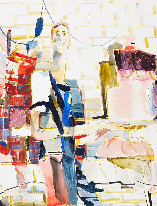 Afternoon treat, Michael Taylor 2015, Acrylic and flashe on paper, 140 x 110 cm