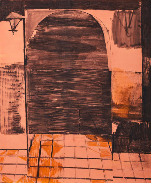 Never Better Weekend, Michael Taylor 2017, Flashe and charcoal on paper, 150 x 125 cm