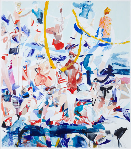 The troopers, Michael Taylor 2014, Acrylic, gouache and pencil on paper, 170 x 150 cm