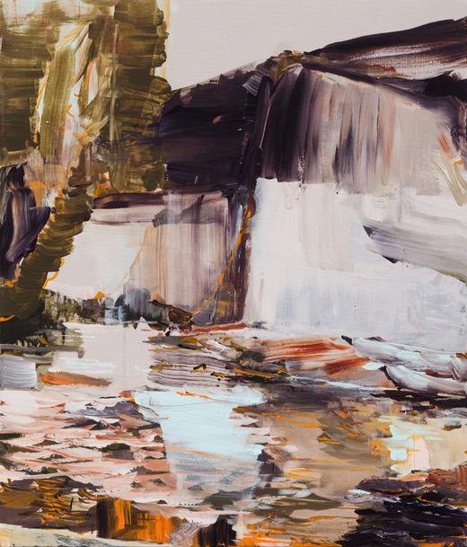 Off Season, Michael Taylor 2017, Acrylic on canvas, 70 x 60 cm