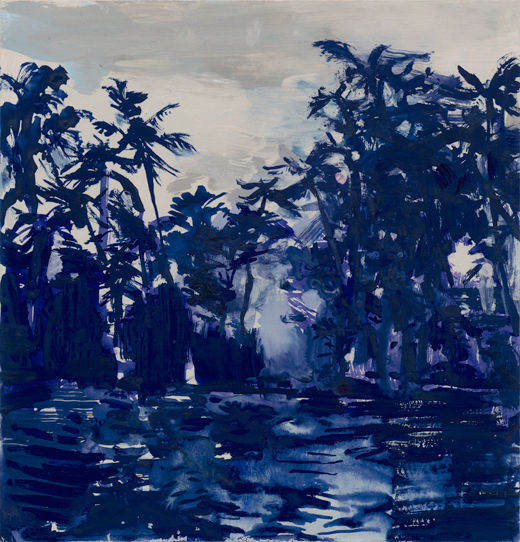 Out with the No easy way in, Michael Taylor 2012, Gouache on card, 20 x 20 cm in the jungle stew, Michael Taylor 2016, Gouache on paper, 150 x 125 cm