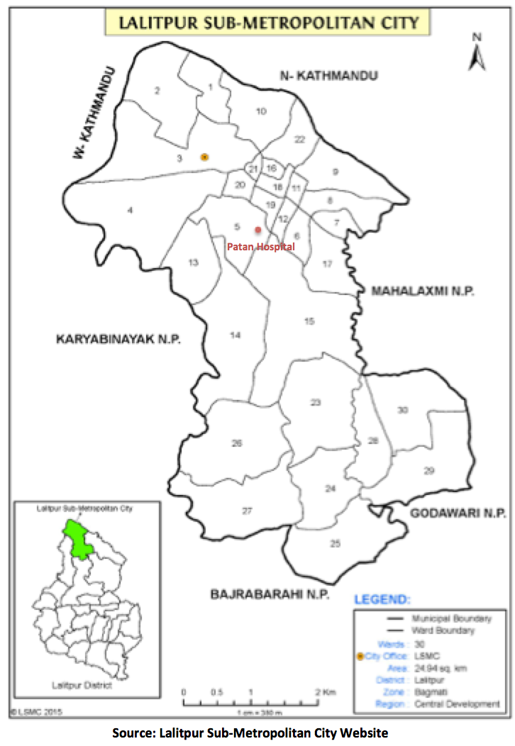 The Wards of Patan where researchers have been studying