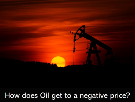 How does Oil get to a negative price?