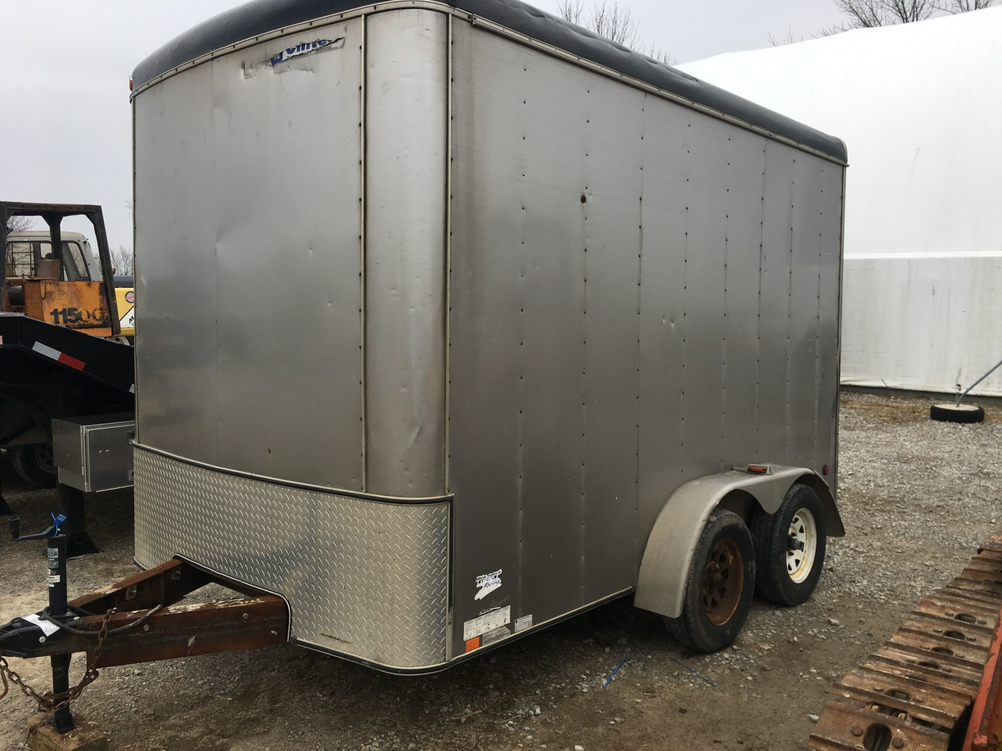 7' x 12' tandem axle enclosed traile