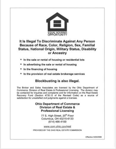 Real  Estate Auction Akron OH Fair Housing