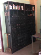 Deco Machine Parts Cabinet