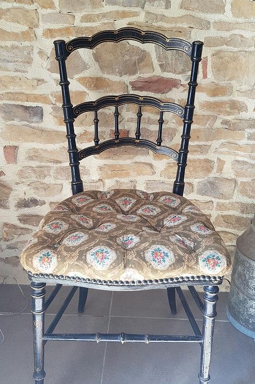 Chaise noircie Napoléon III