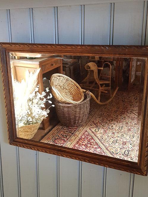 Miroir ancien cadre bois