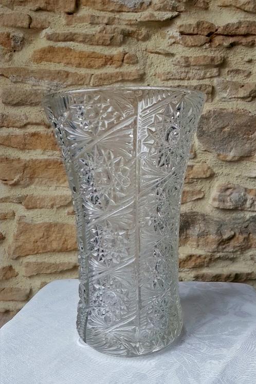 """Vase ancien ciselé """"fleurs"""""""