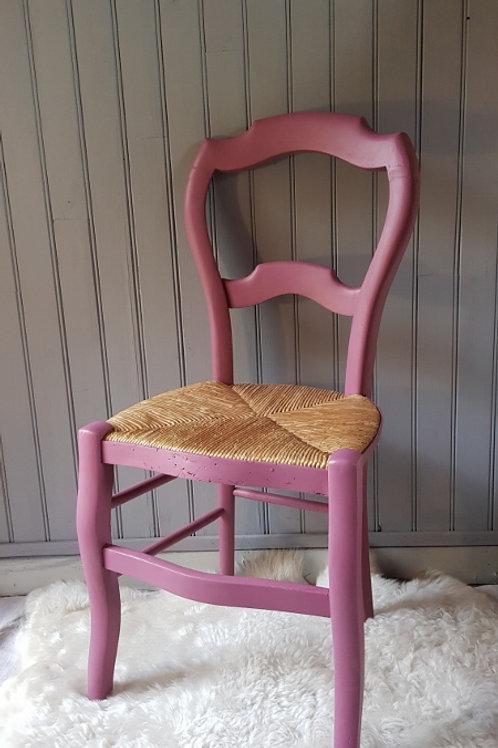 "Chaise ancienne""lila"""