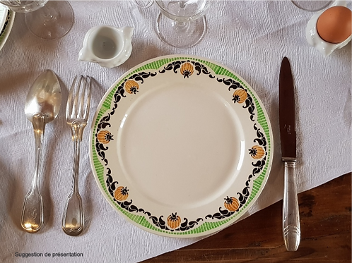"Assiettes plates DIGOIN ""Maroussia"""