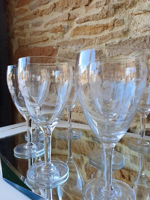 Verres à vin en cristal