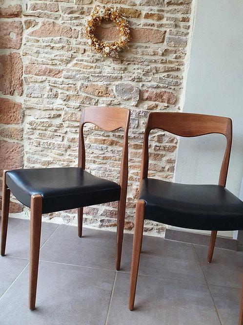 2 chaises danoises Niels Otto Møller