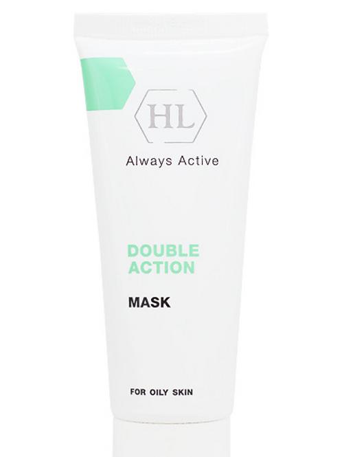 הולילנד מסכה דאבל אקשן (70 מל) לעור שמן Holyland Double Action Mask
