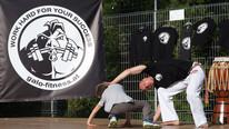 Rad lernen im Kinder Capoeira