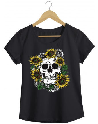 Camiseta Skull Girassol