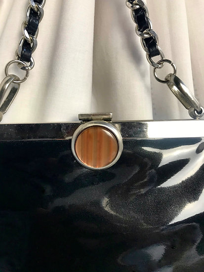 Vintage Patent Black Bag
