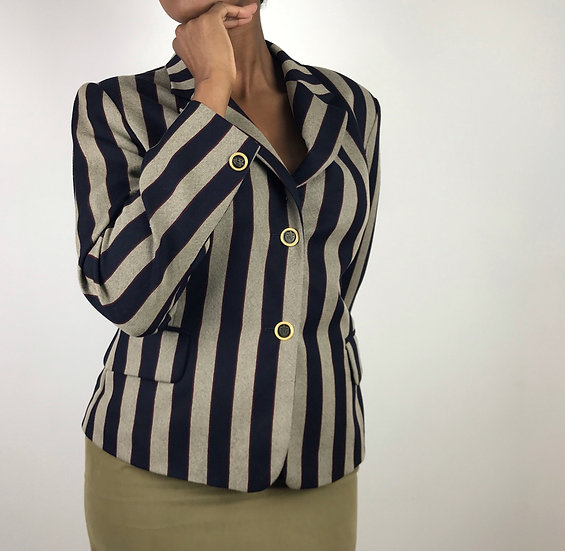 Vintage Betty Barclay Striped Blazer