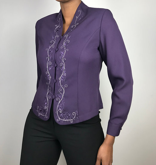 Vintage Purple Blouse