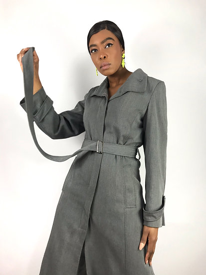 Vintage Grey Trench