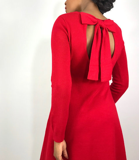 Vintage Red Bow Dress