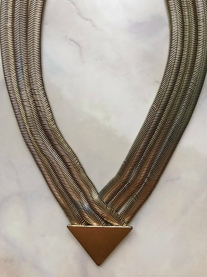 Vintage Gold Triangle Necklace