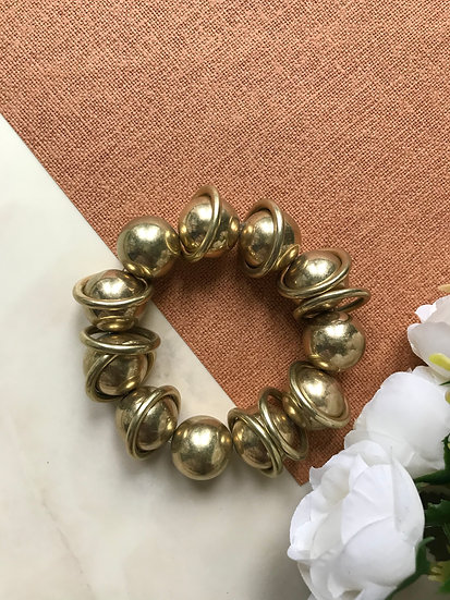 Vintage Gold Ball Bracelet