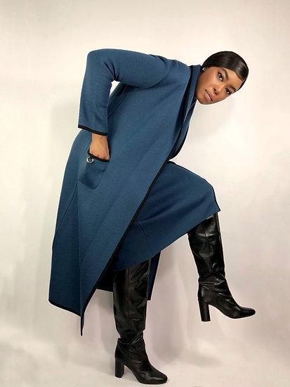 Vintage Midi Dress & Cardigan Set