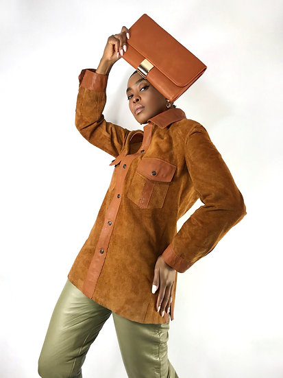 Reversible Vintage Leather Shacket