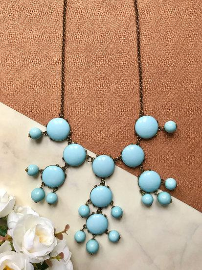 Vintage Baby Blue Droplet Necklace
