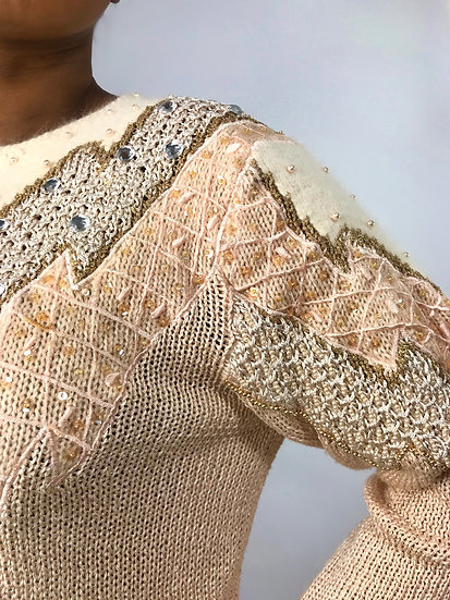 Vintage Jewelled Sweater