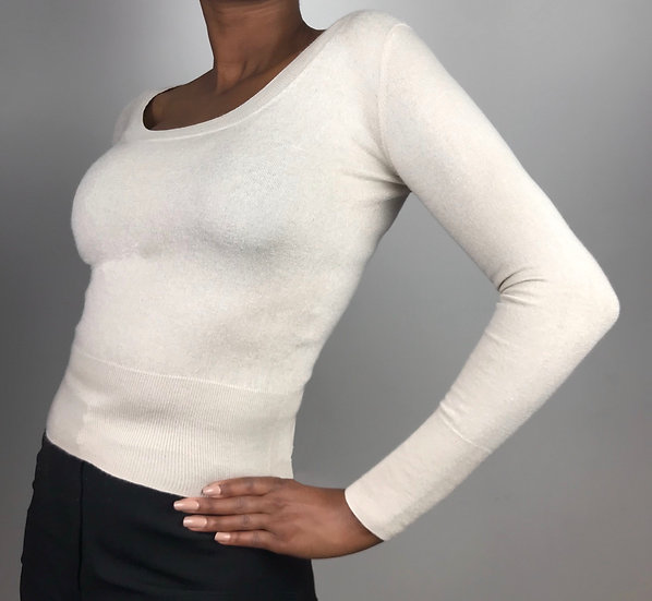 Silk and Cashmere Fine Knit Top