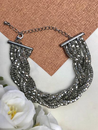 Vintage Silver Braid Bracelet