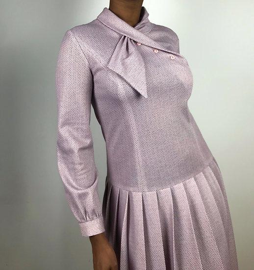 Vintage Chevron Print Dress