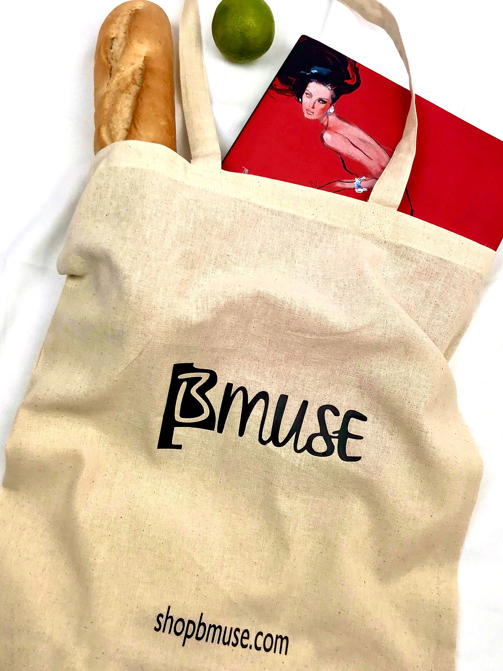 BMUSE STYLISH & SUSTAINABLE TOTE BAG available as part of the BMUSE ESSENTIAL LOCKDOWN KIT or can be purchased individually also