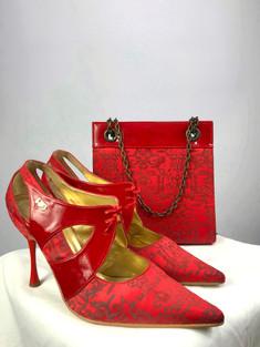 RED OR DEAD BAG & SHOES SET