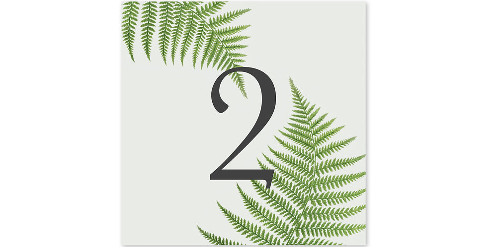Fern Greenery - Table Number