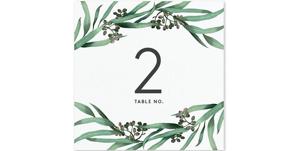 Eucalyptus Hoop - Table Number