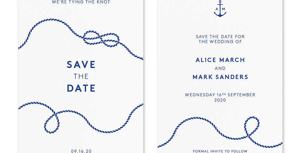 Tie The Knot - Save The Date & Envelope