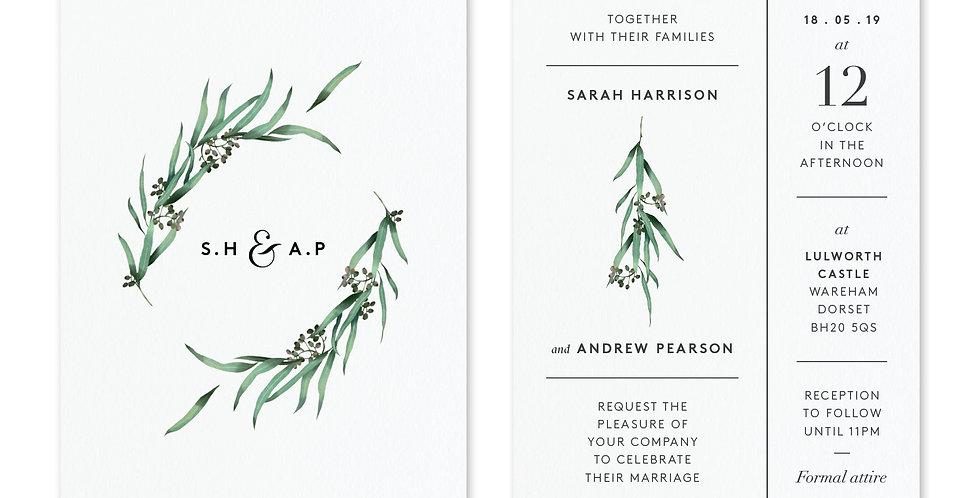Eucalyptus Hoop - Invite & Envelope
