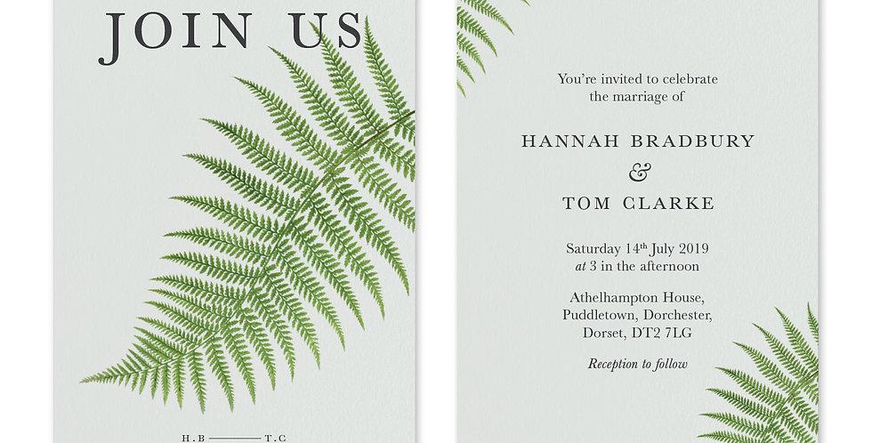 Fern Greenery - Invite & Envelope