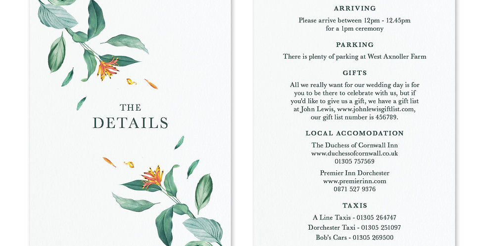Tropical Foliage - Information