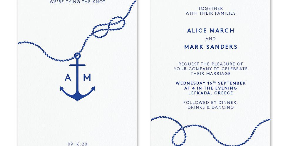 Tie The Knot - Invite & Envelope
